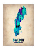 Sweden Watercolor Poster
