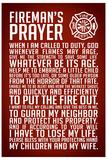 A Fireman's Prayer Plastic Sign