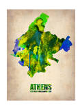 Athens Watercolor Poster