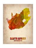 South Africa Watercolor Poster