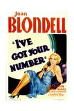 I'VE GOT YOUR NUMBER  Joan Blondell  1934