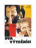 CRIME BUSTERS  (aka DVA VYTECNICI)  Polish poster  from top: Bud Spencer  Terence Hill  1977