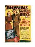BLOSSOMS IN THE DUST  from left: Greer Garson  Walter Pidgeon on midget window card  1941