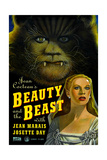 BEAUTY AND THE BEAST  US poster  from top: Jean Marais  Josette Day  1946