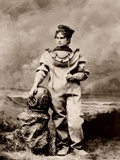 Sarah Bernhardt (1844-1923)  in sea-diving costume as The Ocean Empress Ca  1880