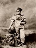 Sarah Bernhardt (1844-1923)  in sea-diving costume as The Ocean Empress Ca  1880