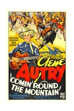COMIN' ROUND THE MOUNTAIN  from left: Gene Autry  Smiley Burnette  1936