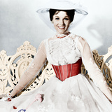 MARY POPPINS, Julie Andrews, 1964 Reproduction photo