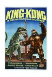 KING KONG ESCAPES  (aka EL REGRESO DE KING-KONG)  Argentinan poster  King Kong (right)  1967