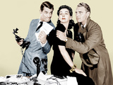 HIS GIRL FRIDAY  from left: Cary Grant  Rosalind Russell  Ralph Bellamy  1940