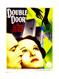DOUBLE DOOR  from left: Kent Taylor  Evelyn Venable on midget window card  1934