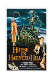 HOUSE ON HAUNTED HILL  alternate poster art for Vincent Price classic  1959
