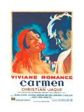 CARMEN  French poster  from left: Viviane Romance  Jean Marais  1945