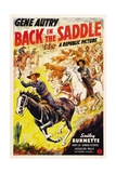BACK IN THE SADDLE  from left: Gene Autry  Smiley Burnette  1941