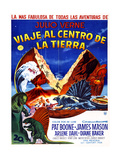 JOURNEY TO THE CENTER OF THE EARTH  (aka VIAJE AL CENTRO DE LA TIERRA)  Argentinan poster  1959