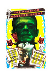 BRIDE OF FRANKENSTEIN/SON OF FRANKENSTEIN double feature poster featuring from top: Boris Karloff