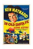 IN OLD SANTA FE  Ken Maynard (top)  Gene Autry (bottom right)  1934