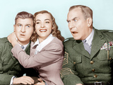HAIL THE CONQUERING HERO  from left: Eddie Bracken  Ella Raines  William Demarest  1944