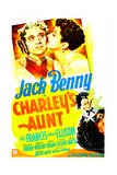 CHARLEY'S AUNT  US poster  Jack Benny  Kay Francis  1941