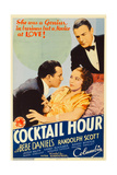 COCKTAIL HOUR  center: Bebe Daniels  right: Randolph Scott on midget window card  1933