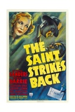 THE SAINT STRIKES BACK  top from left: Wendy Barrie  George Sanders  1939