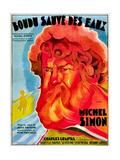 Boudu Saved From Drowning  (aka Boudu Sauve des Eaux)  Michel Simon  French poster art  1932