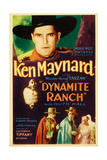 DYNAMITE RANCH  top: Ken Maynard on midget window card  1932