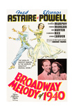 BROADWAY MELODY OF 1940  l-r: Fred Astaire  Eleanor Powell on poster art  1940