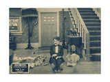 ONE AM  Charlie Chaplin on lobbycard  1916