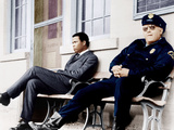IN THE HEAT OF THE NIGHT  from left: Sidney Poitier  Rod Steiger  1967