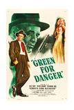 GREEN FOR DANGER  l-r: Alastair Sim  Sally Gray on US poster art  1946