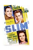 SLIM  US poster art  from top: Pat O'Brien  Henry Fonda  Margaret Lindsay  1937