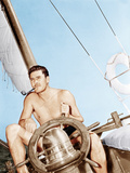 Errol Flynn relaxing on his yacht  ca 1937