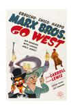 GO WEST  Groucho Marx  Harpo Marx  Chico Marx  Diana Lewis  1940