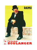 THE BAKER'S WIFE  (aka LA FEMME DU BOULANGER)  French poster art  Raimu  1938