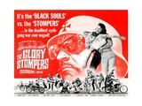 THE GLORY STOMPERS  lower left: Dennis Hopper (bearded man wrestling  upright)  1968