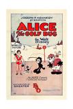 ALICE THE GOLF BUG  left: Virginia Davis on US poster art  1927