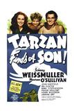 TARZAN FINDS A SON!  Maureen O'Sullivan  John Sheffield  Johnny Weissmuller  1939