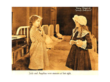 DADDY LONG LEGS  l-r: Mary Pickford  Fay Lemport on lobbycard  1919