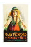 THE MENDER OF NETS  Mary Pickford on poster art  1912