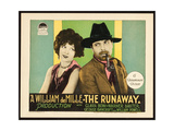 THE RUNAWAY  l-r: Clara Bow  Warner Baxter on title card  1926