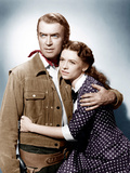 THE MAN FROM LARAMIE  from left: James Stewart  Cathy O'Donnell  1955