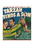TARZAN FINDS A SON  Maureen O'Sullivan  Johnny Weissmuller  Johnny Sheffield  1939