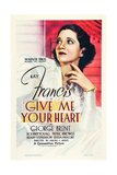 GIVE ME YOUR HEART  US poster art  Kay Francis  1936