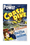 CRASH DIVE  US poster  Anne Baxter  Tyrone Power  1943