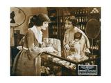 THE VEILED ADVENTURE  left: Constance Talmadge on lobbycard  1919