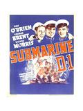 SUBMARINE D-1  Wayne Morris  Pat O'Brien  George Brent on window card  1937
