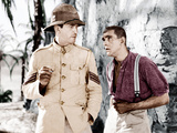 THE LOST PATROL  from left: Victor McLaglen  Boris Karloff  1934