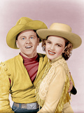 GIRL CRAZY  from left: Mickey Rooney  Judy Garland  1943