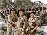 THE BRIDGE ON THE RIVER KWAI  from left: Alec Guinness  William Holden  Jack Hawkins  1957